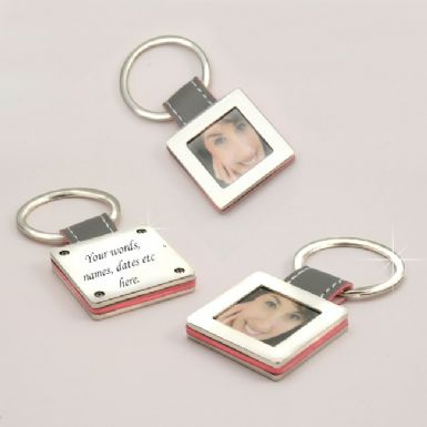 Photo Frame Keyring with Engraving | Someone Remembered